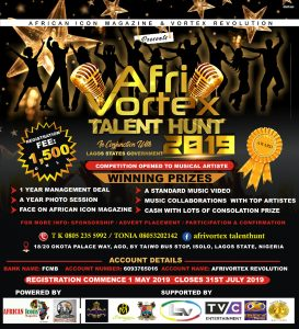 AFRIVORTEX TALENT HUNT 2019 | LAGOS STATE GOVERNMENT